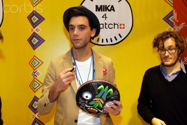 Mika - Swatch signing session in Milan, Italy Nov 23 2013