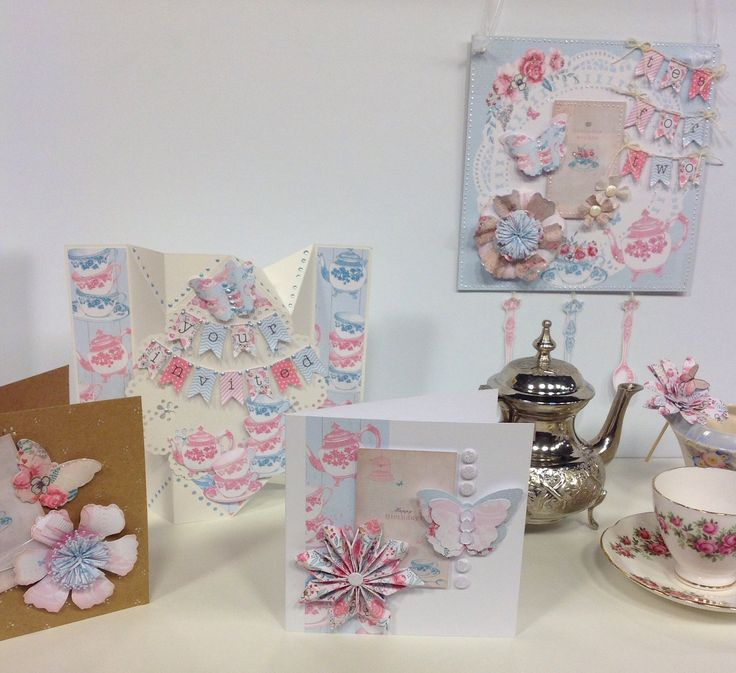 Cards designed using Afternoon Tea.