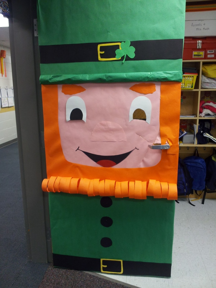 St Patricks Day door decoration from Klassy Kinders.