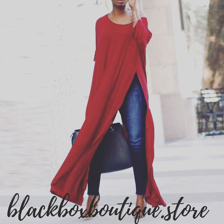 The High Split Long Shirt – blackboxboutique 5
