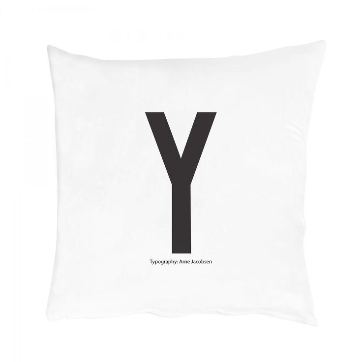 "AJ Kissenbezug ""Y"", 80x80 von Design Letters"