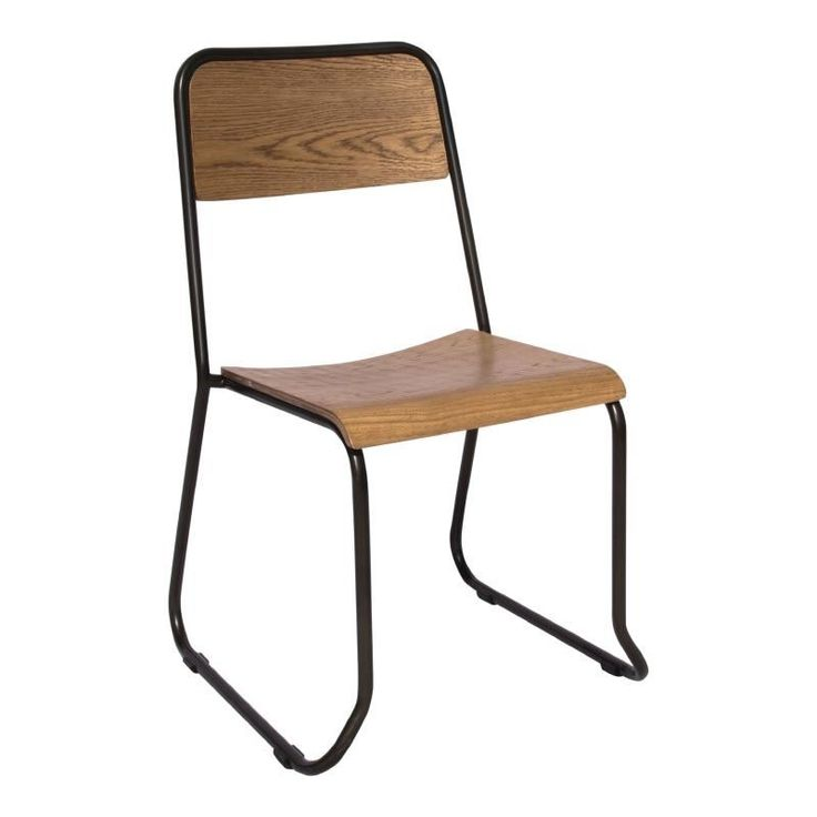 Caponi Retro Kitchen Dining Chair Urban Wood Seat Metal Sidechair Fully  Assembled Price Per Pair