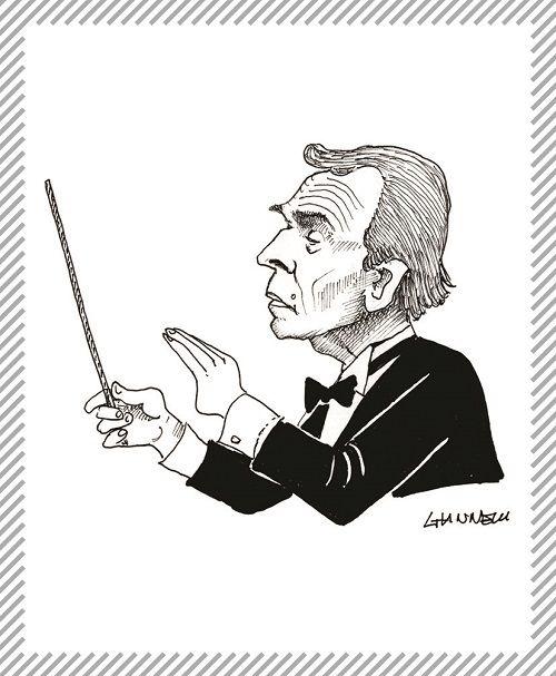 """Claudio Abbado, 1933 - 2014, direttore d'orchestra e musicista. Per quasi vent'anni fu direttore dell'orchestra sinfonica della Scala, successivamente fondò orchestre in tutto il mondo per portare la """"musica a tutti"""". #AlbumMIlano #TeatroAllaScala"""