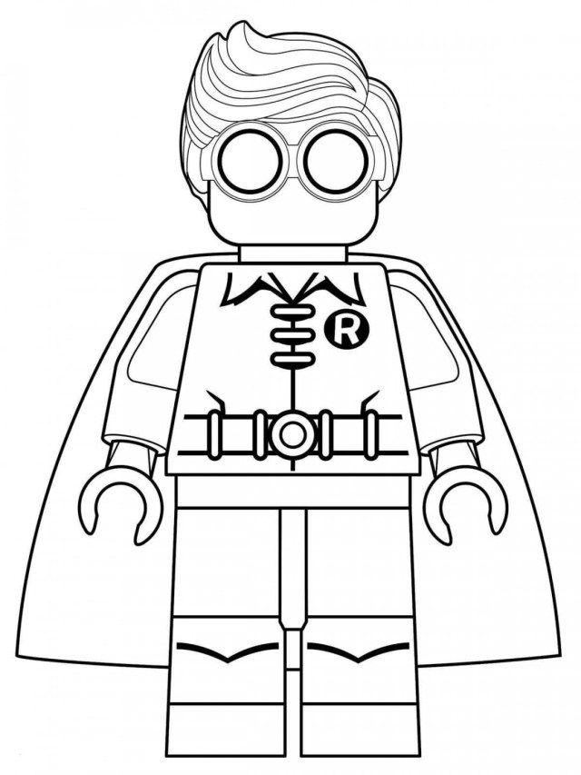 Lego Batman Robin Coloring Page Coloring Books Super