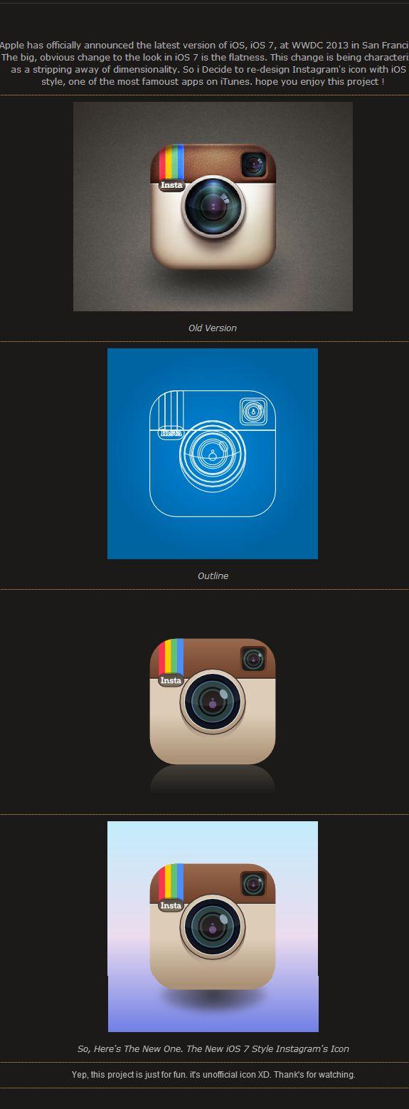 Instagram iOS7 Icon Style  #instagram #ios7 #icon #iphone #nikhil