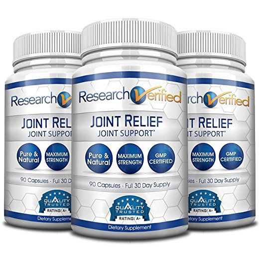 Research Verified Joint Relief - #1 Joint Relief Supplement on market - 100% Natural with Glucosamine, MSM and Turmeric + Vitamins, Minerals & Herbs - 100% Money-Back guarantee! 3 Month Supply