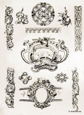 16 best images about ornamente on pinterest baroque filigree design and vintage. Black Bedroom Furniture Sets. Home Design Ideas