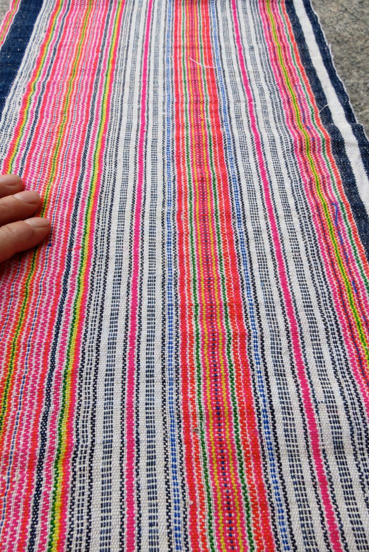 Handwoven hemp, Hmong  Vintage textiles and fabric- table runner from Thailand. $34.99, via Etsy.