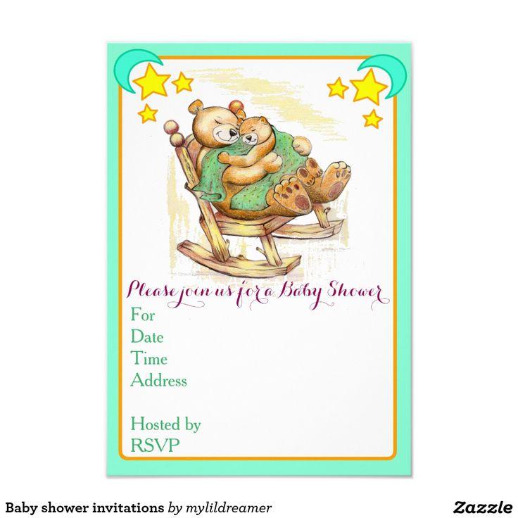 "Baby shower invitations 3.5"" x 5"" invitation card"