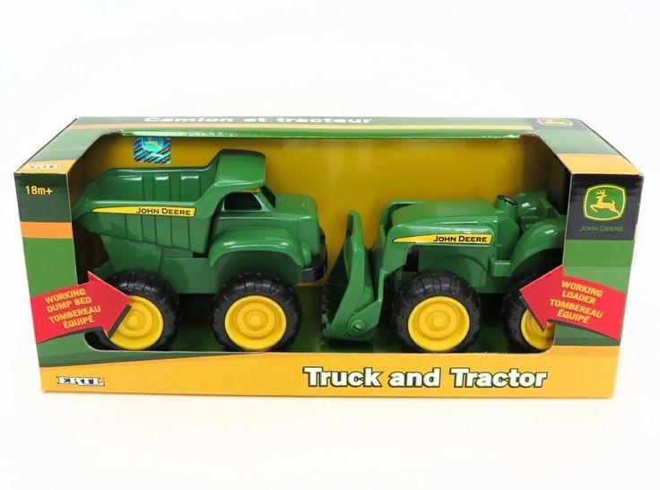 John Deere Kids SandBox Truck N Tractor 2 Piece Set Toy Toys