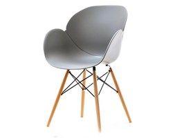 Krzesło Swan Wood Szare