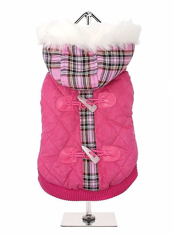 Urban Pup Highland Lady Quilted Tartan Dog Coat