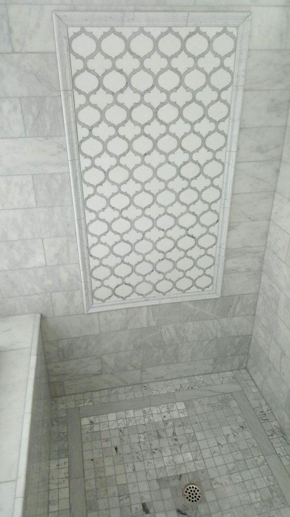 Arabescato Marble Bathroom