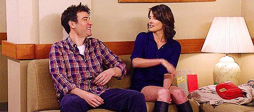 Pin for Later: The Signs That Ted and Robin Were Always Meant to Be  They're so comfortable around each other.