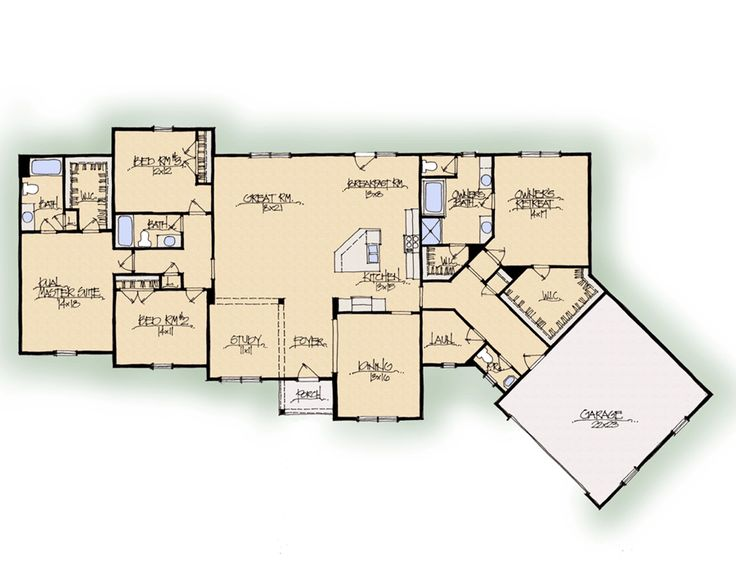 17 best images about dual master floor plans on pinterest for Dual master bedroom floor plans