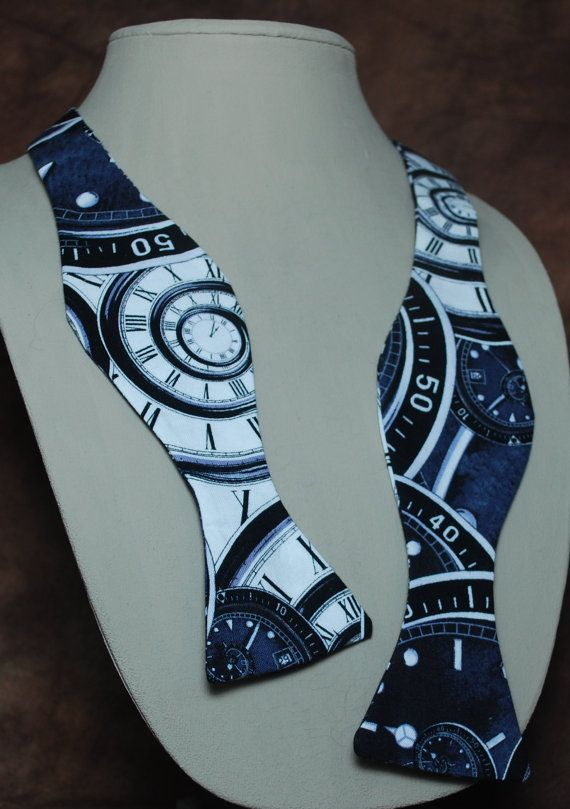 Timey Wimey bow tie by AbandonedWarehouse on Etsy