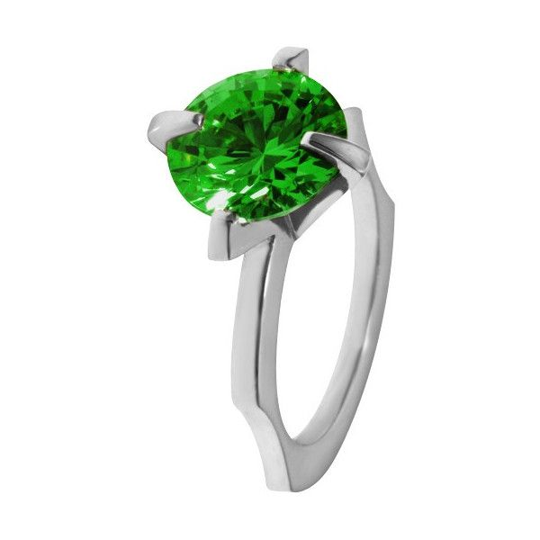 Women's Silver Ring by Luke Goldsmith Green Cubic Zirconia Cocktail... ($115) ❤ liked on Polyvore featuring jewelry, rings, cz jewellery, handcrafted silver rings, silver jewellery, silver cubic zirconia rings and silver cz ring