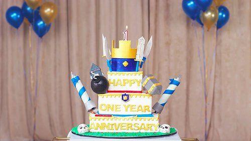 Decoración de Tortas y Pasteles de Clash Royale para Cumpleaños