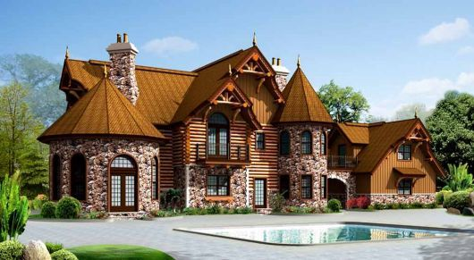 Aw aw! Victorian + Log Cabin = Storybook Castle dream home.