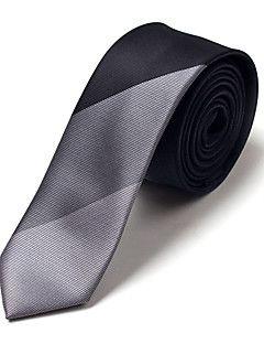 5 CM Wide Black&Gray Silk Tie