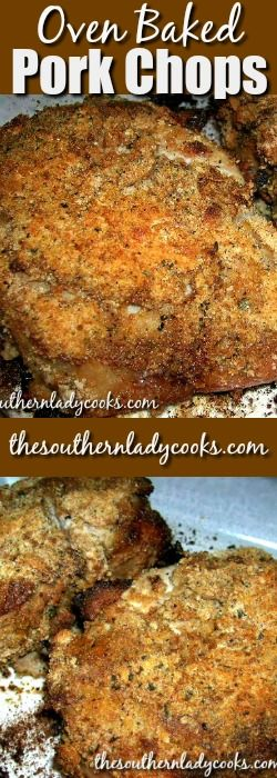 Oven baked pork chops make a wonderful main dish meal on weeknights or for company. The molasses, brown sugar and spicy mustard make for so much flavor.