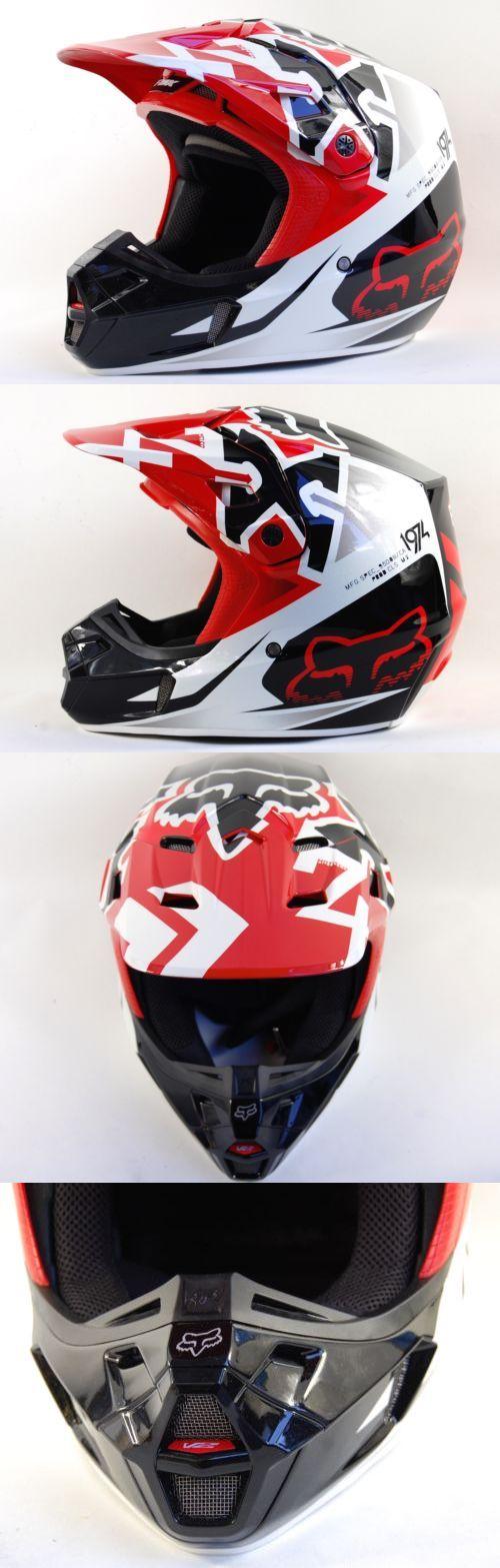 Helmet Accessories 177865: Fox Racing V2 Dot Bmx Mens Motocross Red Snell Certified Helmet Size Medium BUY IT NOW ONLY: $149.99