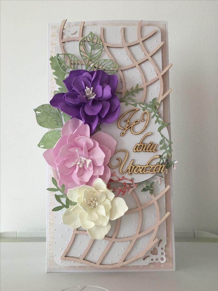 Urodzinowa kartka z kwiatami :)