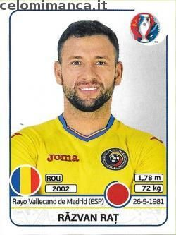 UEFA EURO 2016™ Official Sticker Album: Fronte Figurina n. 51 Răzvan Raț