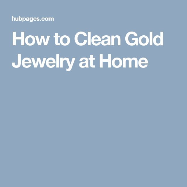 how to clean gold jewelry at home with vinegar