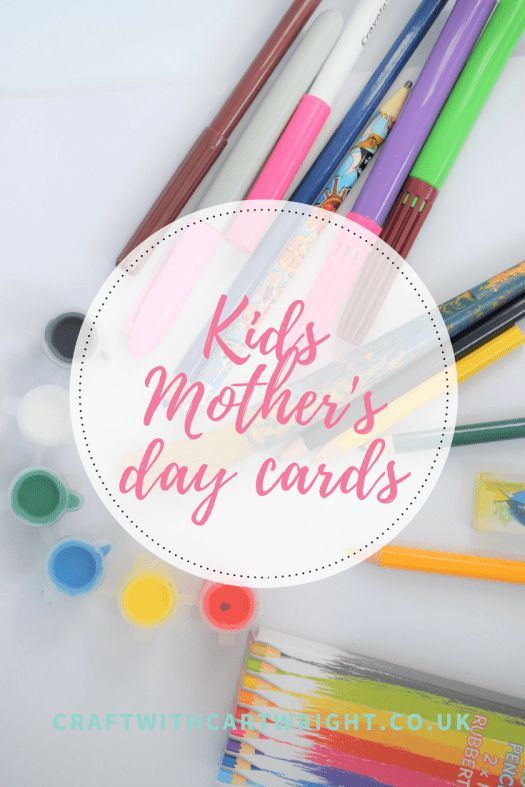 Mother's day card ideas for kids - Craft with Cartwright