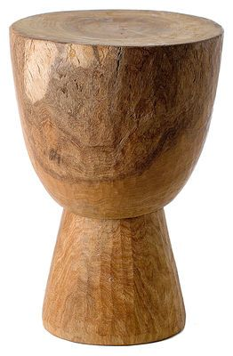 Tabouret Stool Tam Tam Tabouret/Table basse Bois - Pols PottenSculpté à la main à l'aide de hachettes au sein d'un atelier traditionnel sénégalais (méthode unique au monde)