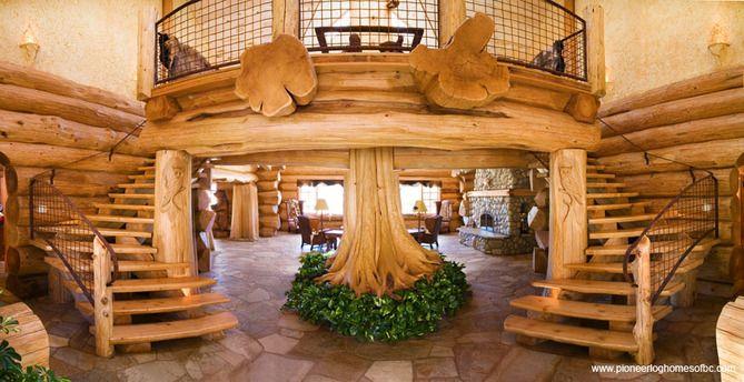 40 best Log Home Interiors images on Pinterest | Log houses, Wood ...