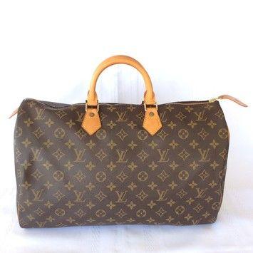 Louis Vuitton Speedy 40 Brown Satchel.