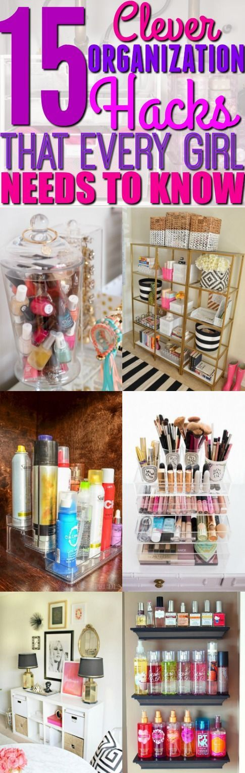 I'm so happy that I found these 15 basic organization hacks. If you're a girl, then you seriously have to try these hacks. Pinning for later.