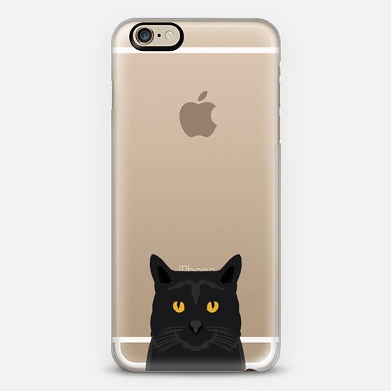 Cute black cat gift idea for cat lady cat person kitten clear cell phone case iphone6 - Classic Snap Case