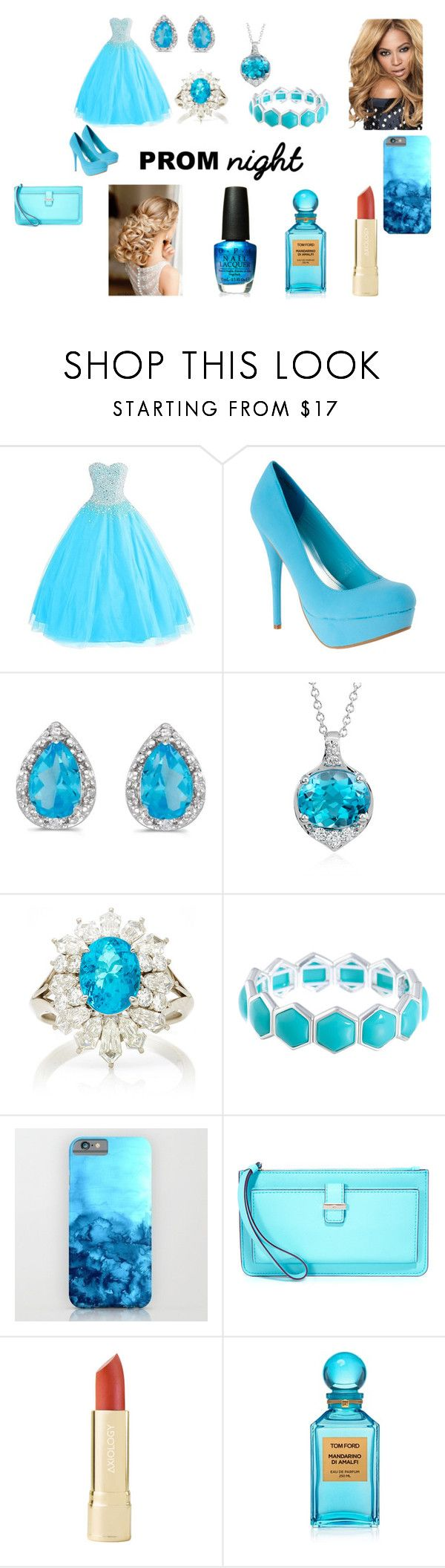 """""""Prom Night"""" by model06 on Polyvore featuring beauty, Amanda Rose Collection, Blue Nile, Martin Katz, Liz Claiborne, Kate Spade, Tom Ford and OPI"""