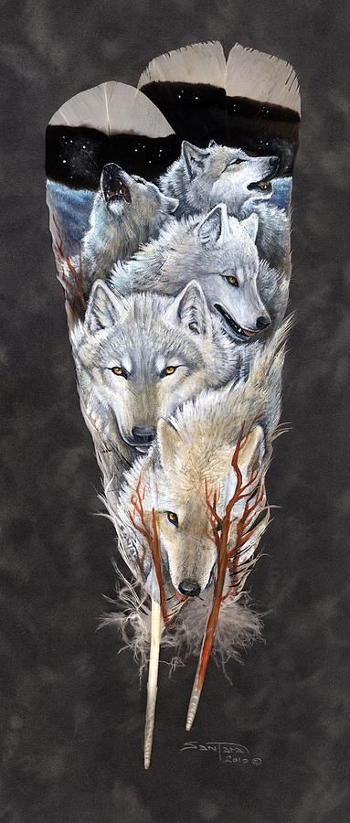 On The Tundra Painting by Sandra SanTara - On The Tundra Fine Art Prints and Posters for Sale