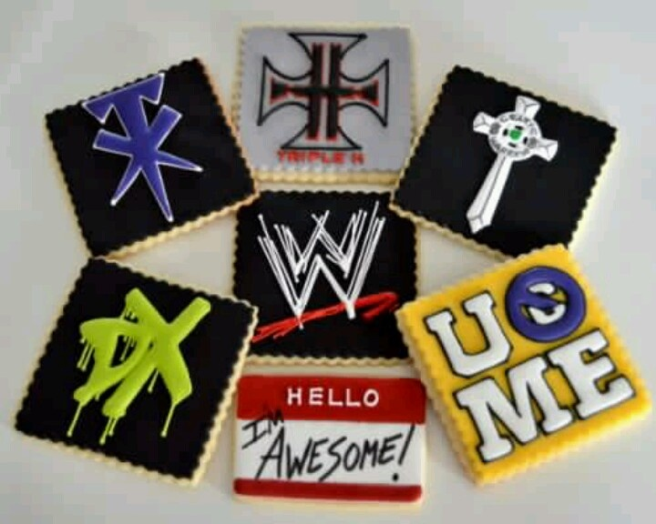 Awesome #WWE cookies!