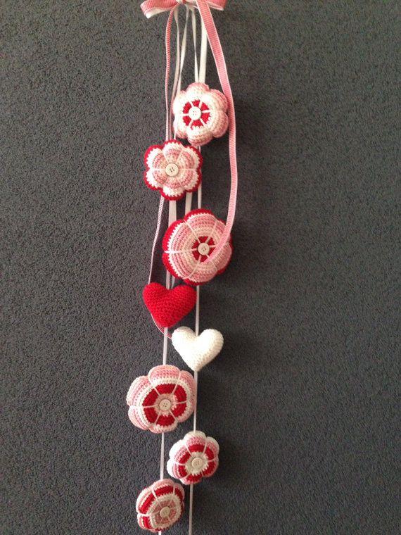 Baby mobiel / gehaakte bloem slinger / kwekerij door DutchNeedle