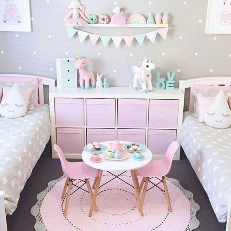 Habitaci n infantil rosa empolvado - Habitacion infantil rosa ...