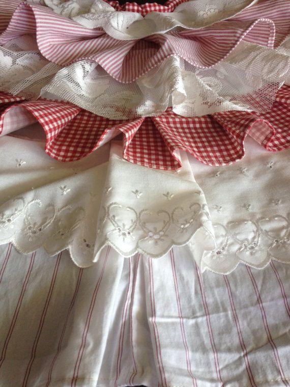Farmhouse Christmas Tree Skirt  Farmhouse Fabric  by FordCountry
