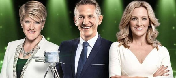 BBC Sports Personality hosts Gary Lineker, Gabby Logan and Clare Balding.