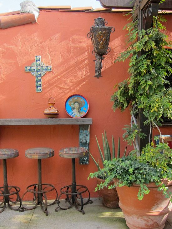 25 best ideas about mexican patio on pinterest mexican for Mexican porch designs