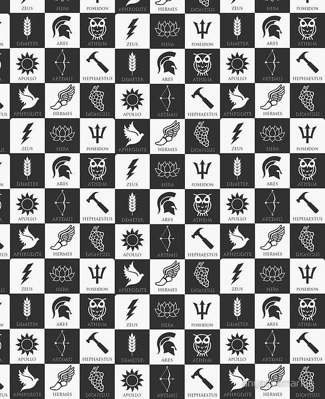Póster Dioses Griegos Phonecase De Anyaquamarine En 2021 Dioses Griegos Simbolos Griegos Dioses