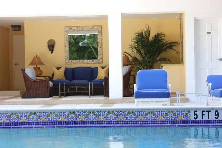 colorful relaxing area in a Palm Beach condominium