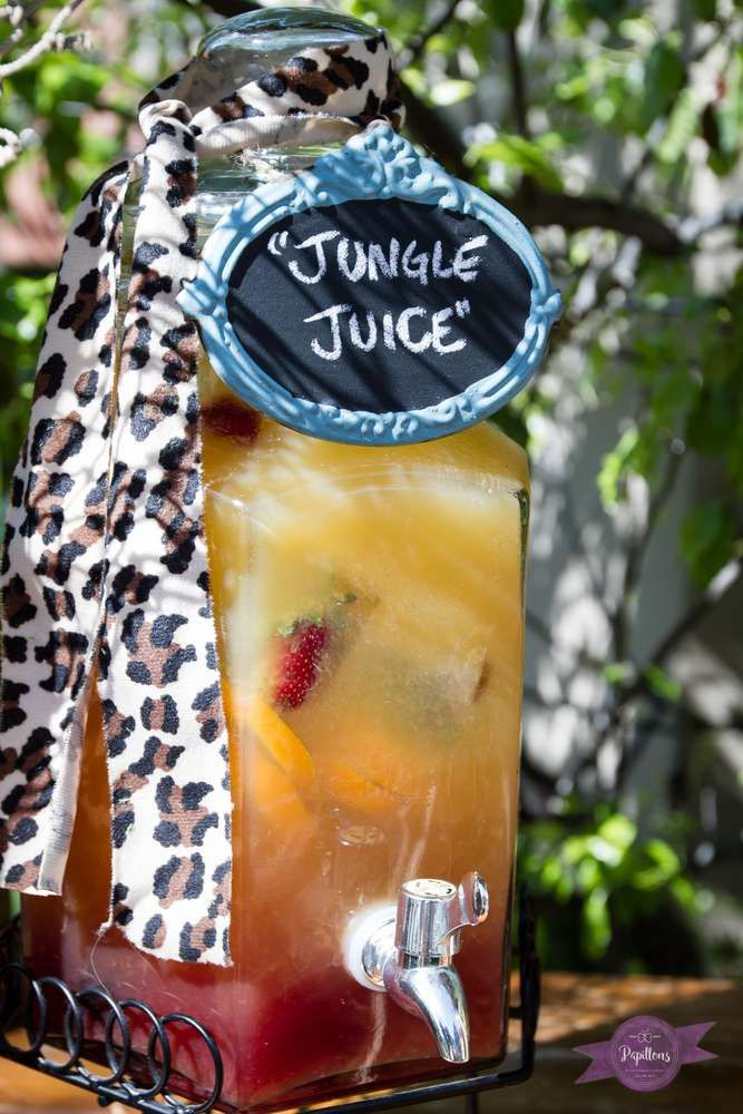 Jungle juice at a jungle birthday party! See more party ideas at CatchMyParty.com!