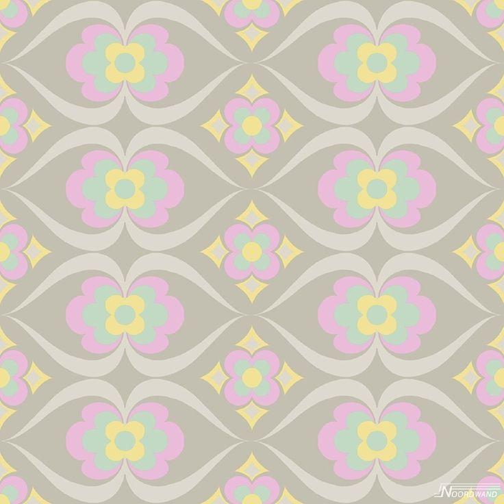 behang 61167-02 Retro bloemen