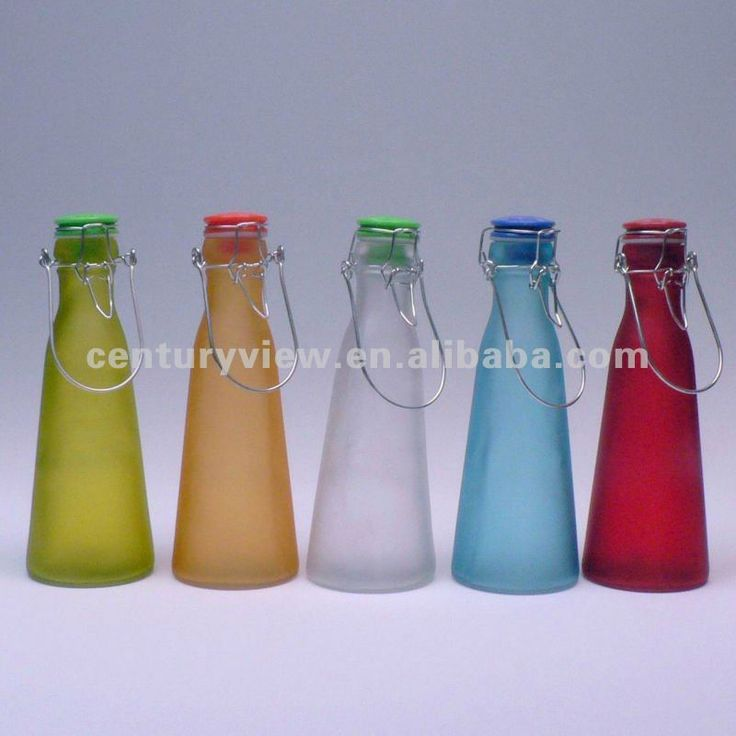 Wholesale Swing Top Color Glass Milk Bottles With Caps View Glass Milk Bottles With Caps Aeofa