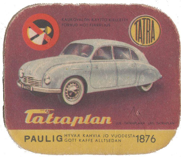 En nostalgitripp fram till jul med hjälp av Pauligs bilkort från mitten av 1900-talet. Tatraplan #cars #vintage