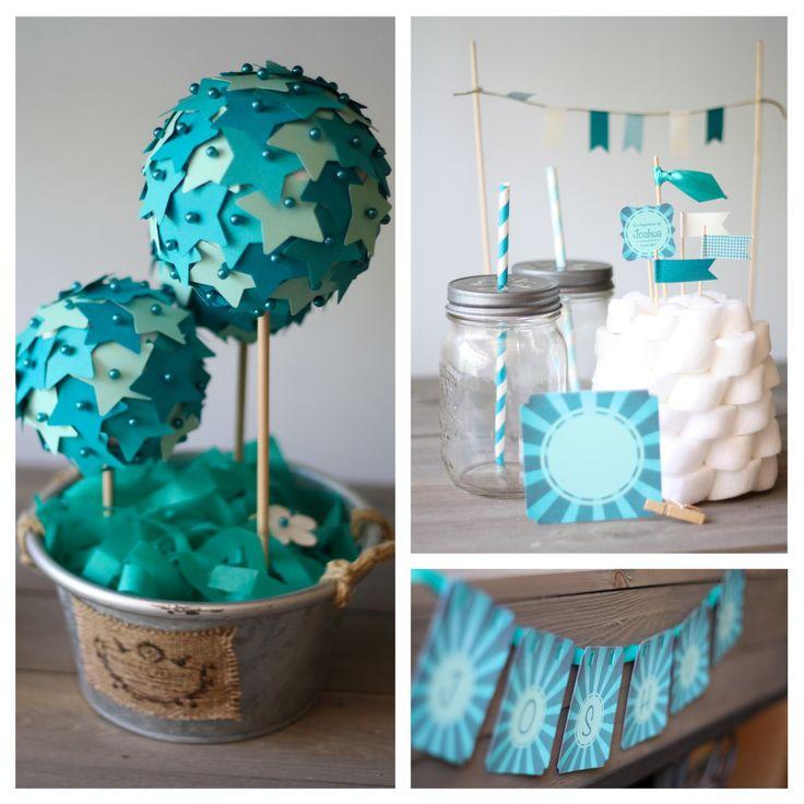 Voilà quelques semaines, se préparait le baptême de Joshua, et comme un signe annonciateur des vacances, la couleur choisie était le bleu des mers du sud... * rêve...* D'abord le choix des matériau...